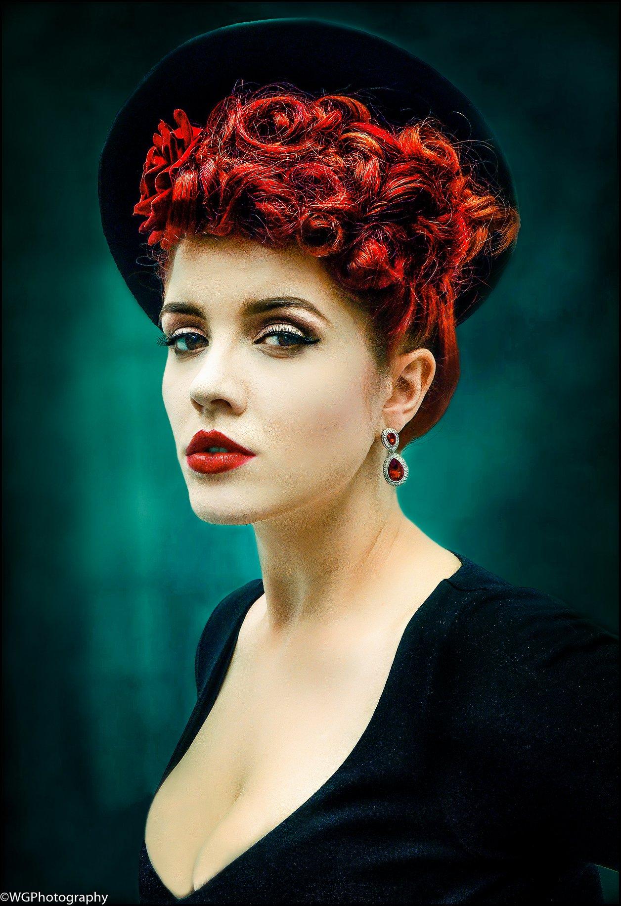 <h5>Scarlet</h5><p>Colour print by William Glen</p>