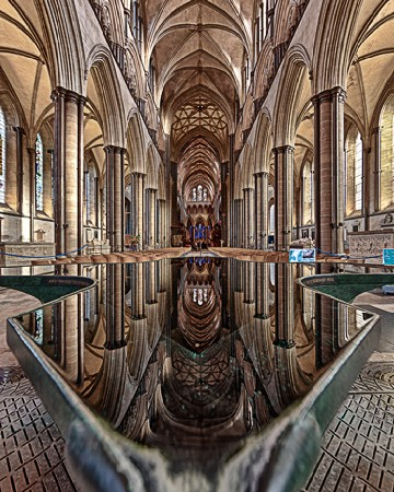 Andrew Macpherson(Reflections in the flowing Fount_ Salisbury)