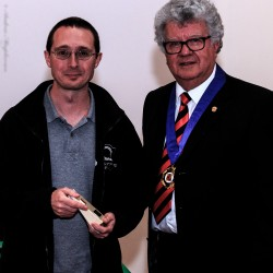 Andy Thorp receiving his award
